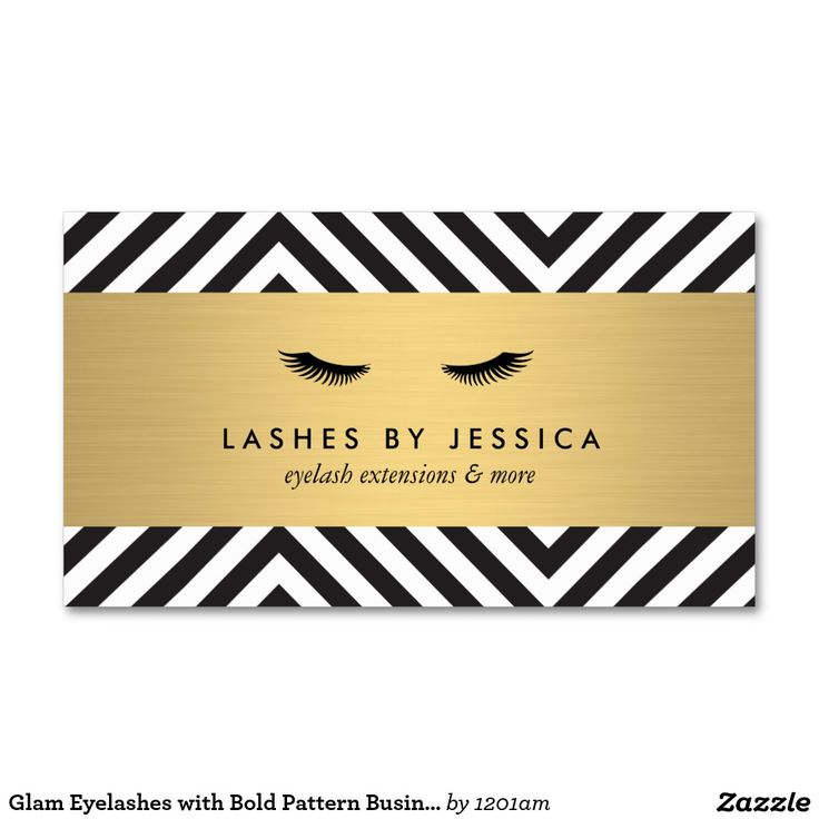 Glam Eyelashes with Bold Pattern Business Card Template for Lash Extensions. Ready to personalize and make it yours!