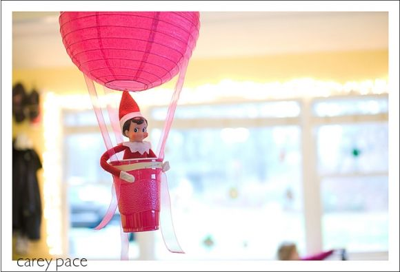 The Air Ballooner | 43 Awesome Elf On The Shelf Ideas To Steal This Christmas