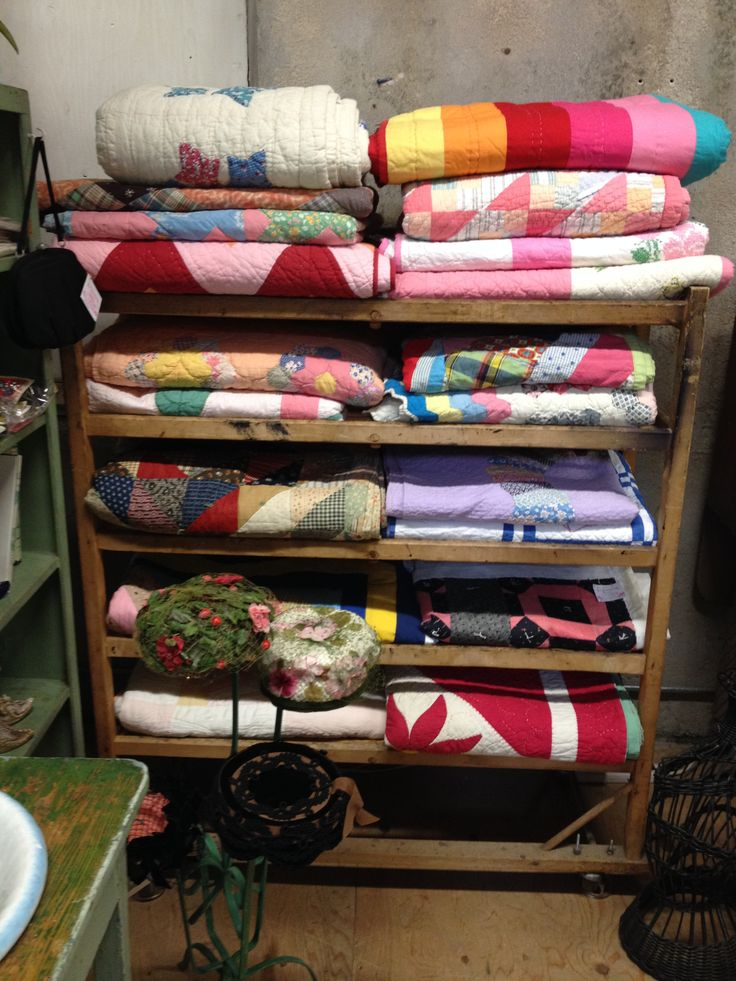 The  quilt rack in my booth.
