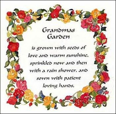 Funny Grandma Quotes   Grandmas Garden Poster
