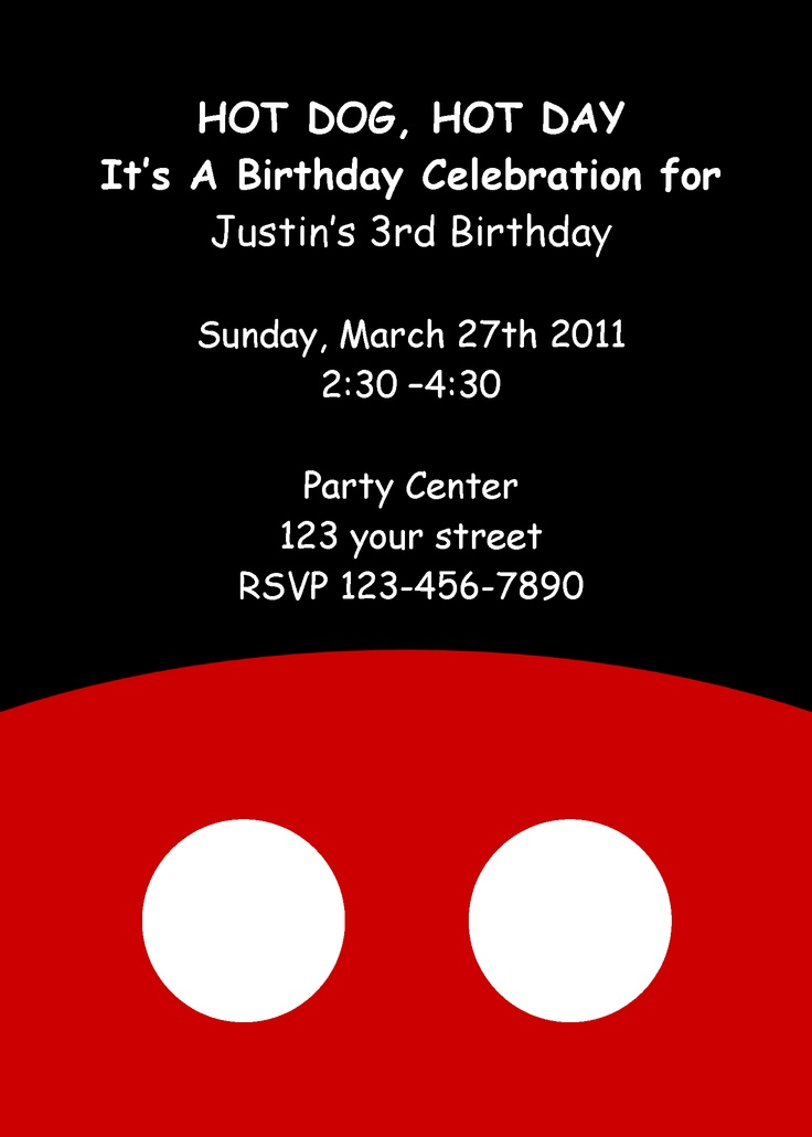 32 best Jackson party ideas images on Pinterest Mickey mouse - mickey mouse invitation template