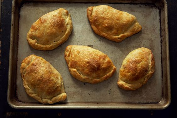 Collards and Cheese Pasties - these are super tasty! Pair with mashed peas for an authentic pub experience http://www.foodnetwork.com/recipes/jamie-oliver/minty-mushy-peas-recipe/index.html