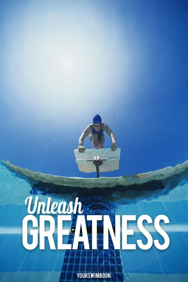 """""""Unleash greatness"""" motivational swimming poster - $29"""