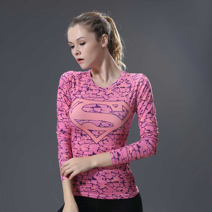 >> Click to Buy << 2017High quality Women T-shirt Bodys Armour Marvel costume Superman T Shirt Long Sleeve Girl Fitness Tights Compression tshirts #Affiliate