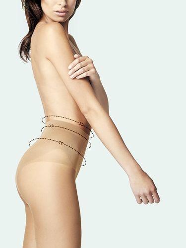 """Tights med høgt liv som glatter ut magen. Denne tightsen er laget med """"silver fresh technology"""". Stort valg i farger, denier og størrelser. God komfort og kvalitet."""