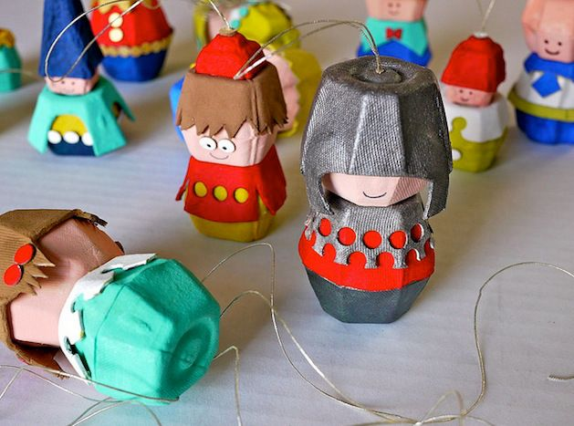 Recycling in the class room. Egg Carton Crafts - make these cute people - so many possibilities! Great for recreating stories with the kids.