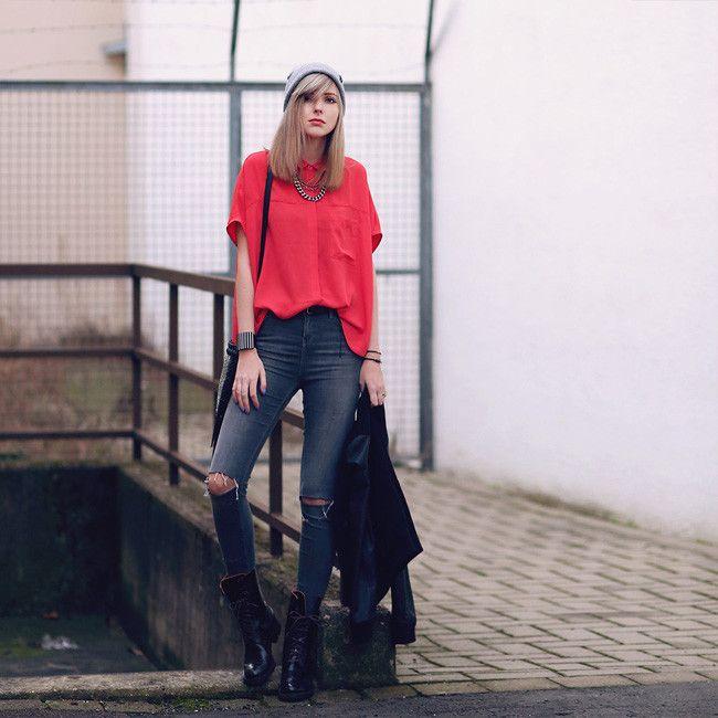 Jeans Rotos Rodilla Look