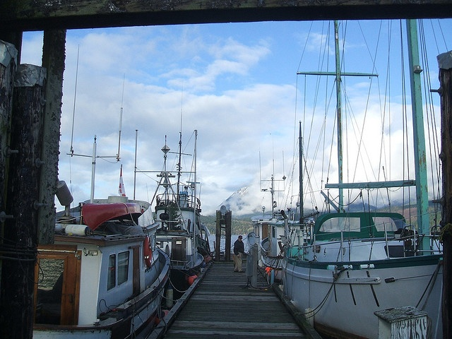 On a wharf in Sechelt BC