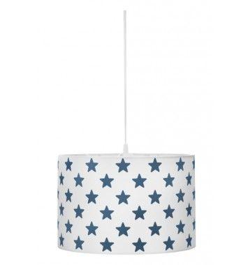 Kids Concept Taklampe Star hvit med marineblå stjerner
