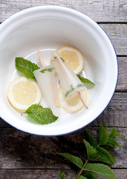 Muntijs met citroen