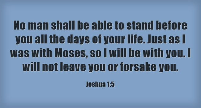 Here are 5 powerful Bible verses from the Book of Joshua.