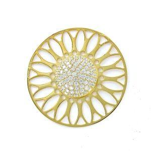 Infinity disc de circonita 33 mm calado media bola