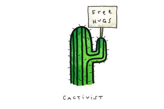 Cactus illustration cactivist                                                                                                                                                     Más
