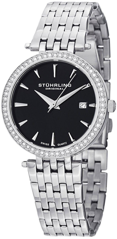 Reloj Stuhrling Original Soiree Tiara de cuarzo suizo con Swarovski Negro | Antes: $1,275,000.00, HOY: $248,000.00
