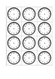 English teaching worksheets: The clock