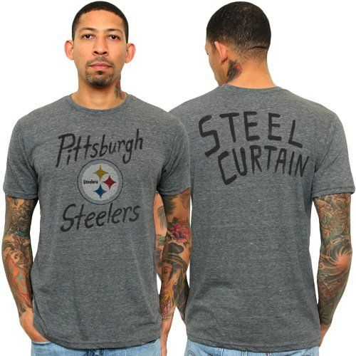 Nfl pittsburgh steelers gameday triblend t shirt large by for 50 percent cotton 50 percent polyester t shirts