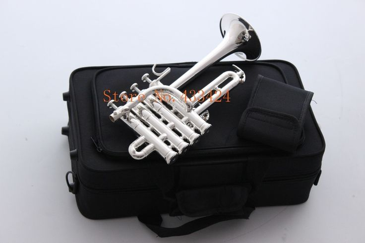 330.00$  Buy here - http://alisln.worldwells.pw/go.php?t=32680671781 - Bach Soprano Piccolo trumpet Bb flat bell Top musical instruments In Brass trompete trumpeter bugle horn trompeta