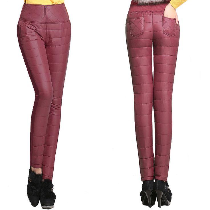 Купить товарна AliExpress. Зимние  брюки  с высокой  талией, ветрозащитные, тонкие, но тёплые! Отличное качество. Категория Брюки и капри