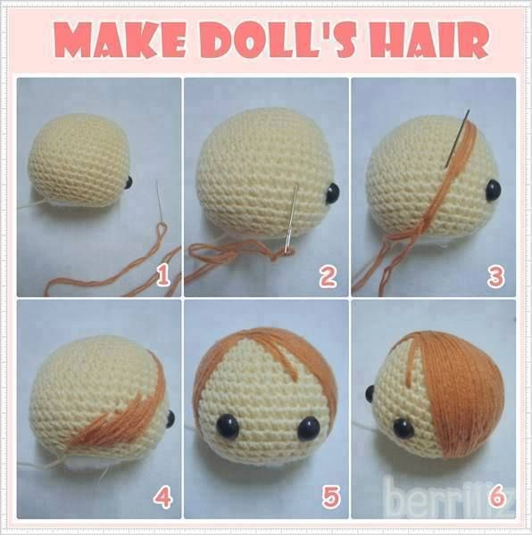 Amigurumi Doll Hair Tutorial : 448 best images about Crocheted and Knit Dolls on ...