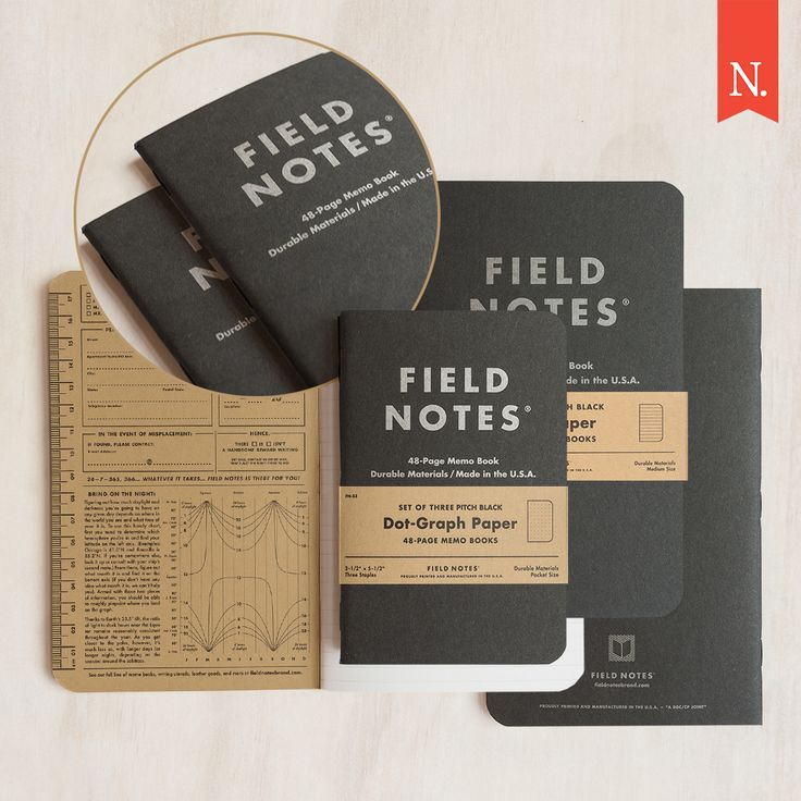 "Introducing the new Field Notes ""Pitch Black""! ⚫️   ""Pitch Black"" was created in response to your cries for an open-edition black Field Notes notebook. If you've long since filled up your ""Night Sky"" limited edition then this is the perfect replacement. AND for the first time it comes in a medium size in two formats: ruled and dot graph."
