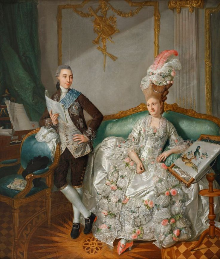 Georg David Matthieu, Hereditary Prince Friedrich Franz with His Wife Luise, 1778