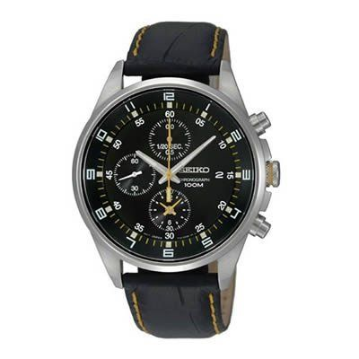 Seiko Men's SNDC89P2 Leather Synthetic Analog with Black Dial Watch https://www.carrywatches.com/product/seiko-mens-sndc89p2-leather-synthetic-analog-with-black-dial-watch/ Seiko Men's SNDC89P2 Leather Synthetic Analog with Black Dial Watch  #Chronographwatch