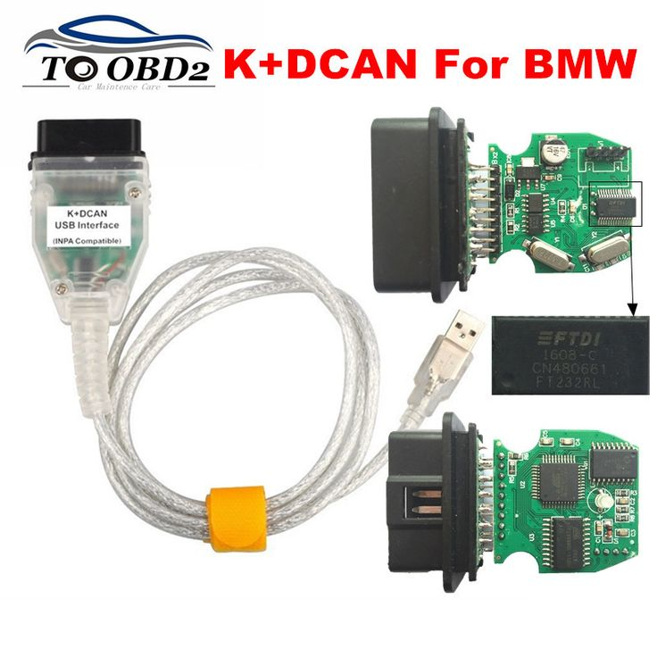 2017 Best FTDI FT232RL Chip K+DCAN INPA Compatiable For BMW INPA Ediabas K DCAN OBD2 Code Reader USB Interface For BMW Series