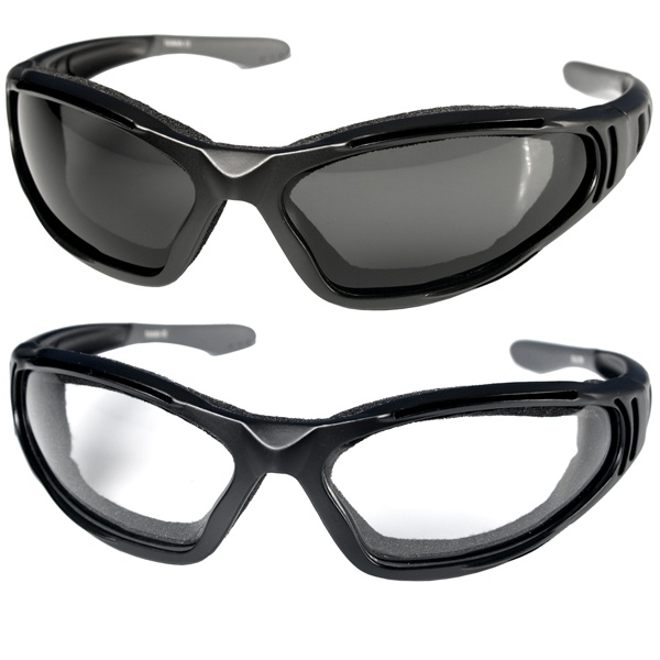 #HotLeathers Ultra Anti-Fog Riding Glasses w/Clear Lenses