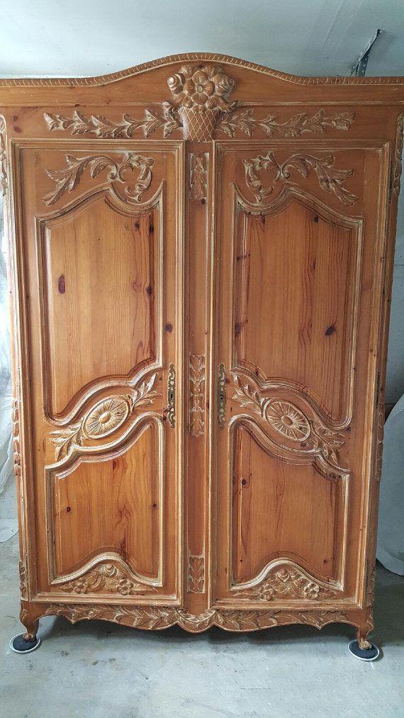 Beautiful vintage wardrobe armoire very large by 1Twelveoaks