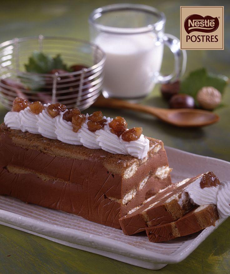 Charlota de castañas y chocolate