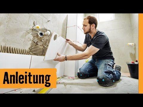 Fliesen auf Fliesen verlegen   HORNBACH Meisterschmiede - YouTube