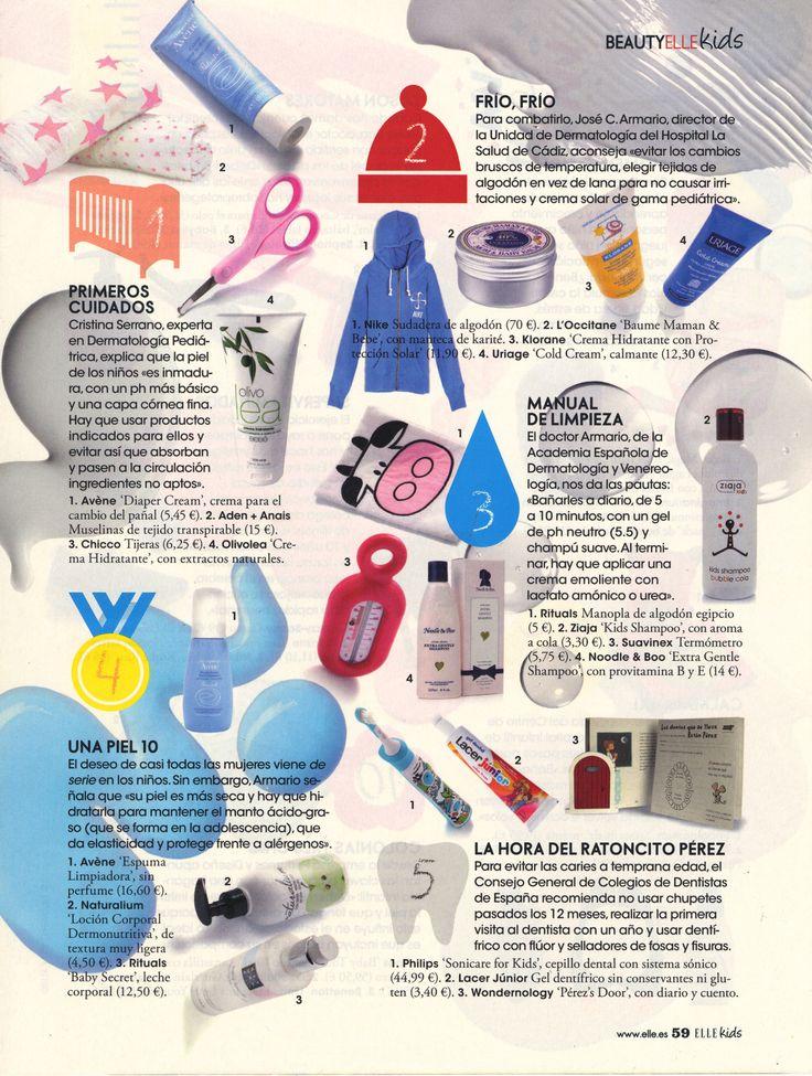 La revista Elle recomienda Olivolea y lo hace de la mano de una experta en Dermatología Pediátrica.