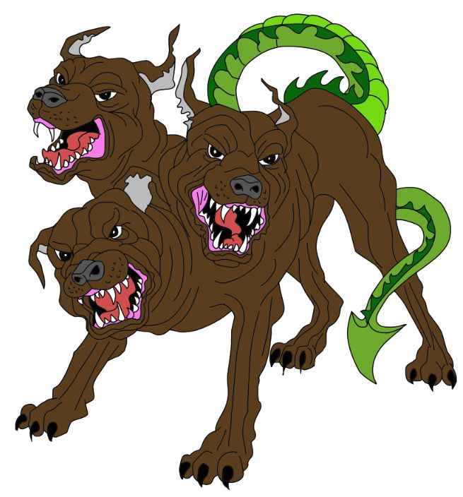Cerberus the three headed dog | Mythical creatures, Pets ...Three Headed Animal Drawing