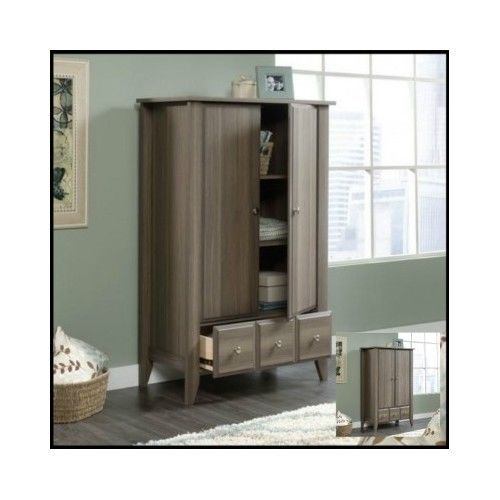 Wood-Wardrobe-Closet-Armoire-Bedroom-Furniture-Door-Storage-Shelf-Dresser-Small