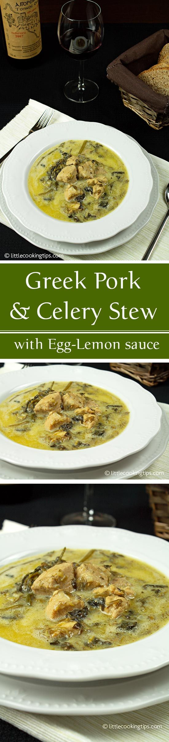 Greek Pork and Celery Stew (Hirino me Selino)