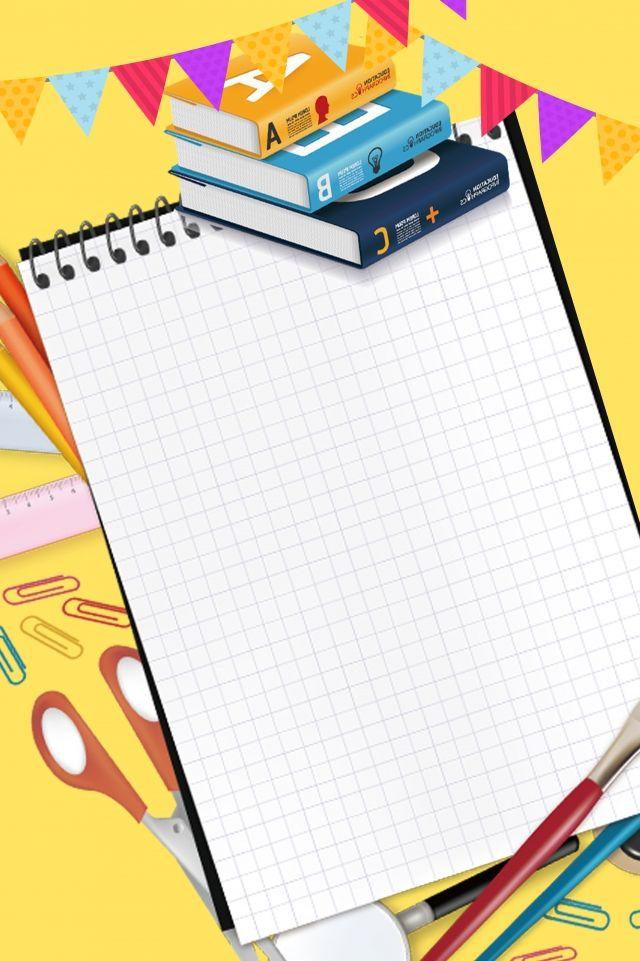 Promocao De Campus Amarelo Dos Desenhos Animados Da Temporada Escolar Graphic Design Background Templates School Posters Kids Background
