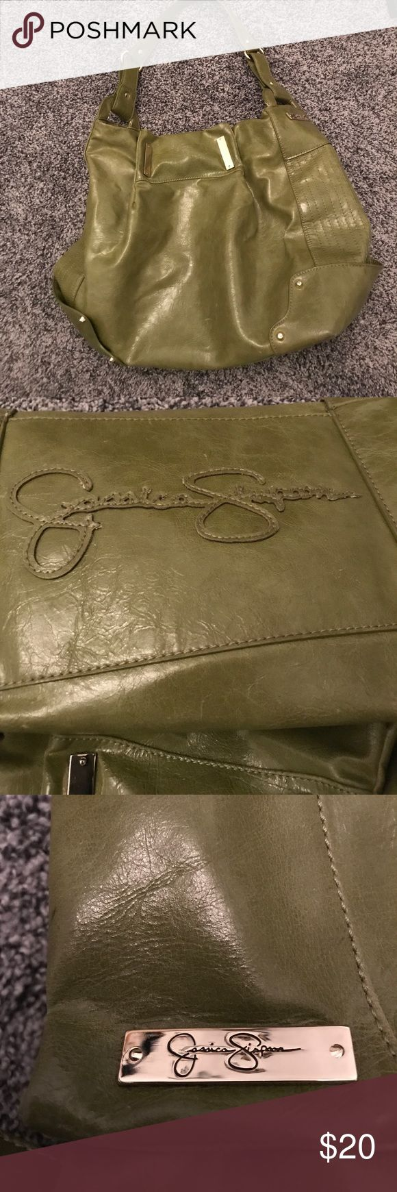 Green Jessica Simpson purse w/ silver hardware Super cute green shoulder bag purse by Jessica Simpson. Silver hardware and studs. Excellent condition. Jessica Simpson Bags Shoulder Bags