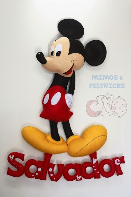 Mimos e Feltrices: Mickey Mouse, Craft, Felt Crafts