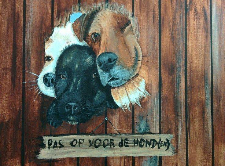 Pas op voor de honden!
