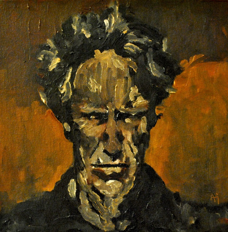 I've been called a lot of things, but never funny - Clint Eastwood, Oil on Canvas
