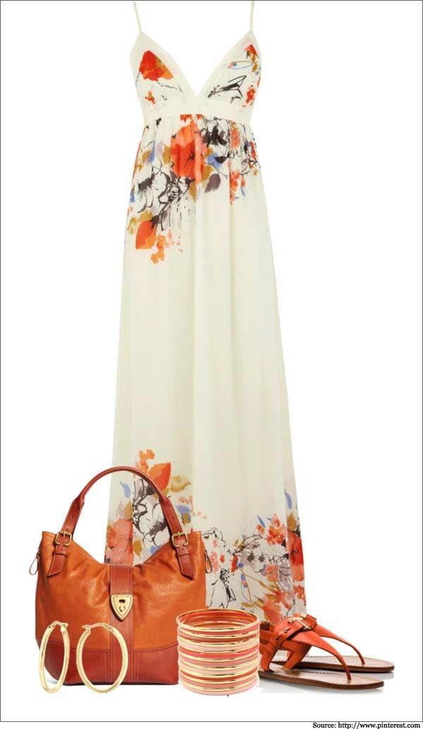 Florals-and-Burnt-Orange-Maxi-Dresses | Fashion | Fashion ...