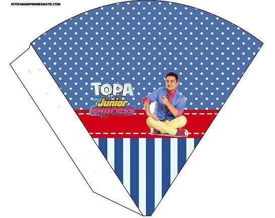 Agregamos al sitio, nuevos imprimibles de Topa para decoración de fiesta de cumpleaños. Encontrarás Cajitas para pop corn, y golosinas, también banderín con la imagen de Topa, wrappers para cupcake…