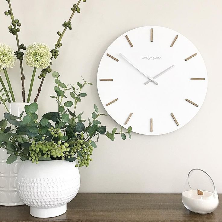 Bring Scandi elements into your home or office with the clean and contemporary Hvit Wall Clock, 50cm from the General Store Furniture Co