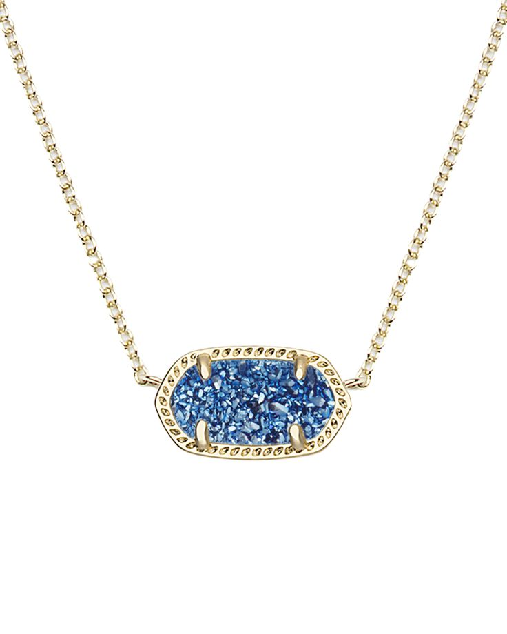 It's back! The Elisa Pendant Necklace in Blue Drusy, available in-stores and…