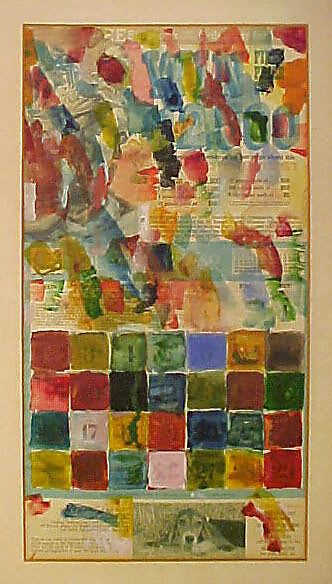 Jim Dine | Color Chart Drawing