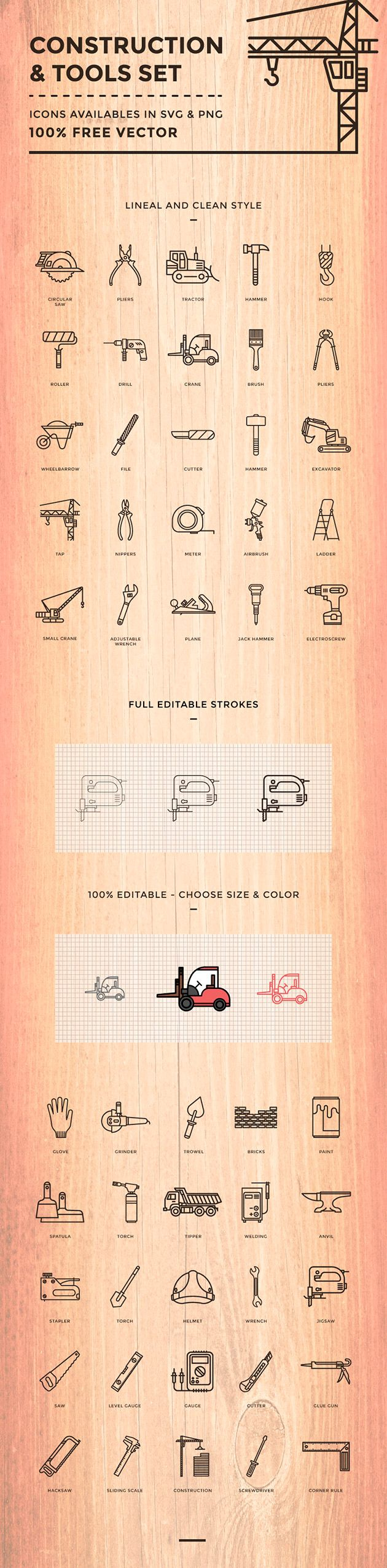 Construction & tools icons on Behance
