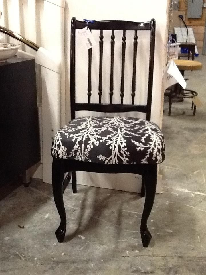 Black Side Chair $51.20 Item #CS-1004,Sold. To purchase similar items visit http://www.findandtreasure.com/catalogue.html