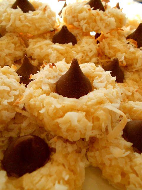 Coconut Macaroon Kiss Cookies