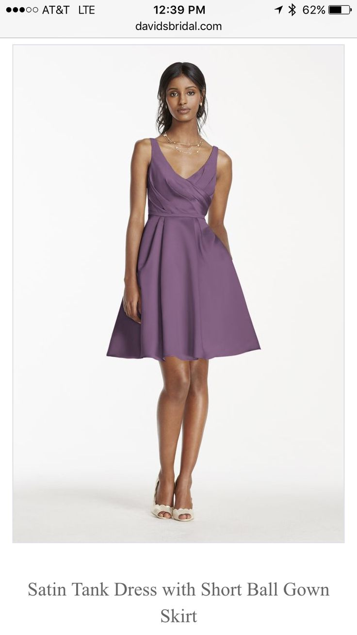 12 best bridesmaids dresses images on pinterest bridesmaids this shortnbspsatin tank dress is perfect for anbspcontemporary chic bridal party look tank bodice features a sultry deep ombrellifo Image collections