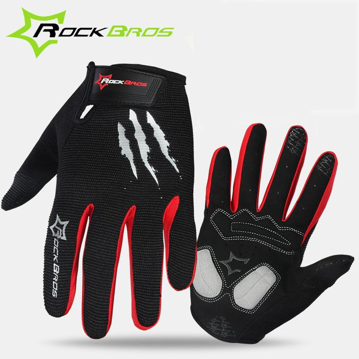 RockBros Winter Cycling Gloves Sponge Pad Long Finger Motorcycle Gloves For Bicycle Mountain Bike Glove Touch Screen MTB Gloves